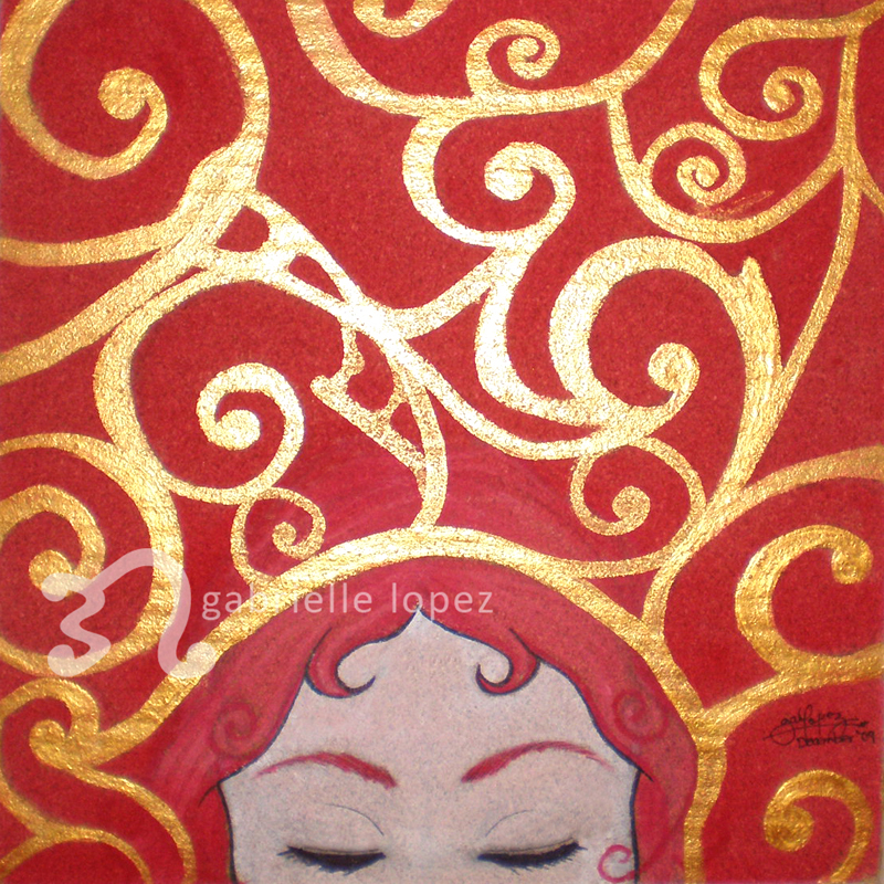 "To Sleep, Perchance To Dream"" – acrylic on cork"