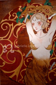 Her Face Was Lost In The Canopy, 2012, Acrylic & Varnish on Wood.