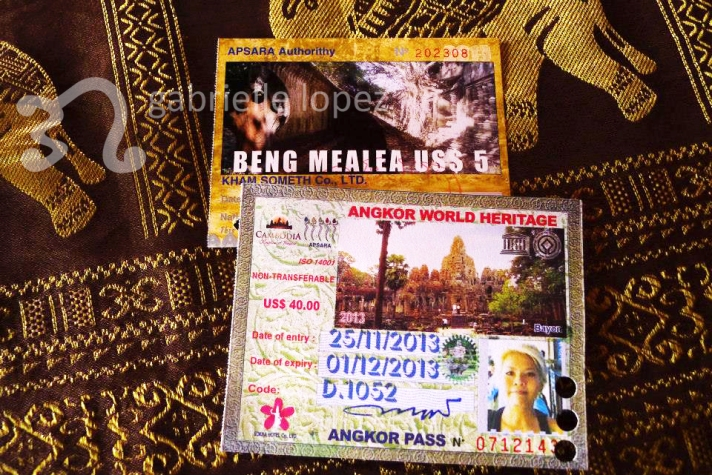 My temple passes to the Angkor Wat temple complex and to Beng Mealea.