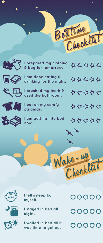Bedtime & Wake-up Checklists for Children