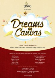 Dreams on Canvas – A Sinag Microfunds Fundraiser: Bulwagan ng Dangal Museum, University of the Philippines – Diliman May 24 – June 24, 2014