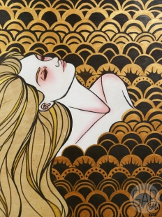 """Dawn Run"", 2015, 18"" x 24"", acrylic on wood"