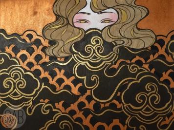 """La Troienne"", 2015, 18"" x 24"", acrylic on wood"
