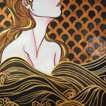 """Sea the Stars"", 2015, 18"" x 24"", acrylic on wood"