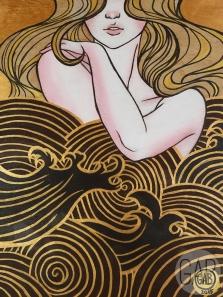 """""""Sunday Silence"""", 2015, 18"""" x 24"""", Acrylic on wood."""
