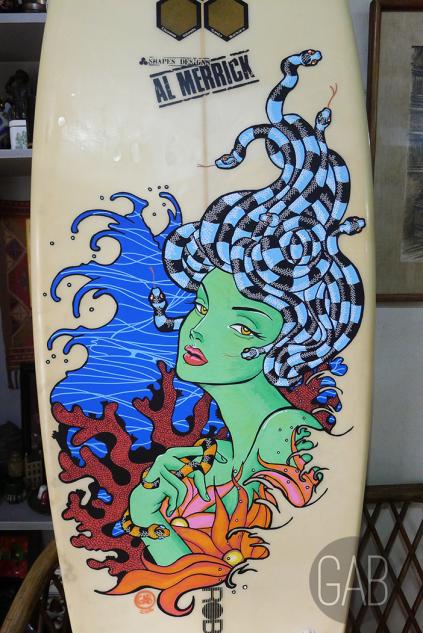 Mer-Medusa, 6'3 shortboard, Paint markers, 2016