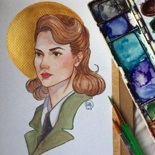 """Peggy"", 7""x9"", Watercolour and graphite, 2017"